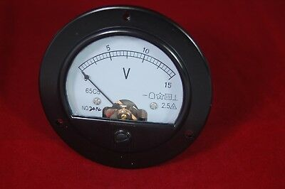 Dc 0-15v Round Analog Voltmeter Voltage Panel Meter Dia. 90mm Directly Connect