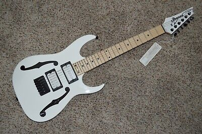 Ibanez Paul Gilbert Signature PGM miKro Electric Guitar PGMM31-WH F-hole Paint for sale  Garden Grove
