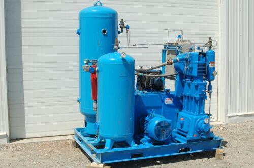 15 HP Mehrer Oil Free Gas Compressor Package