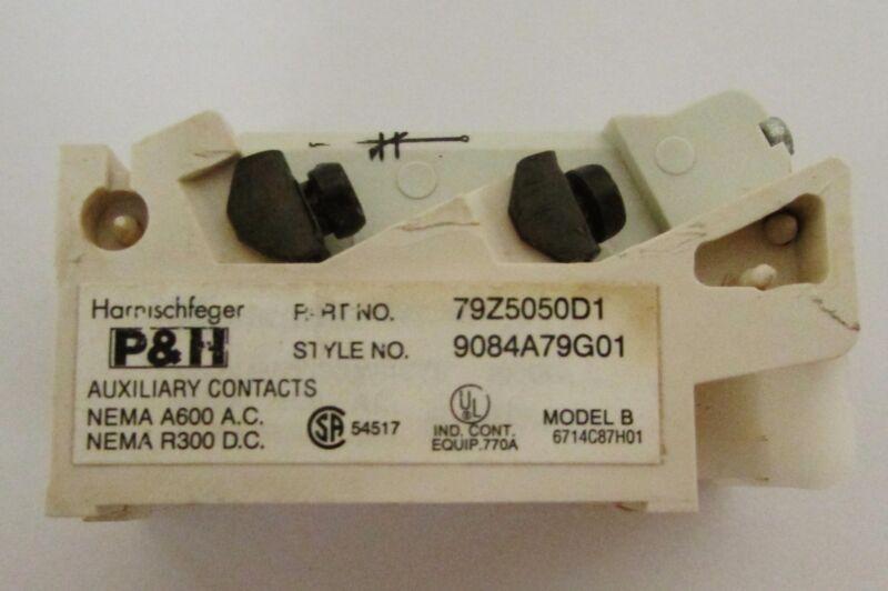 EATON CUTLER HAMMER P&H HARNISCHFEGER J11 79Z5050D1 Auxiliary Contact 9084A79G01