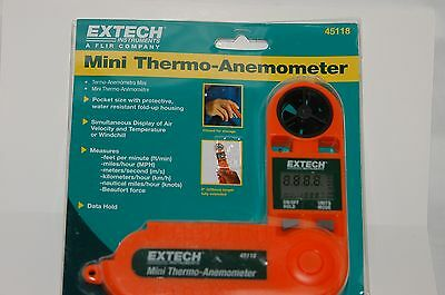 Mini Thermo-Anemometer Extech Instuments 45118 - New! (Mini Thermo Anemometer)