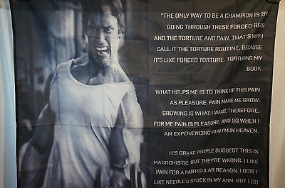 Arnold Schwarzenegger Motivational Quotes Poster Banner Flag Gym Man Cave 3X5 Ft