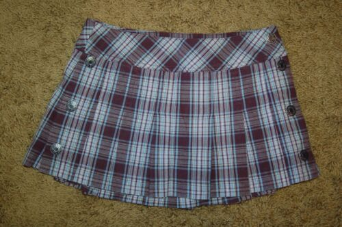 NWOT Girls Limited Too Purple Pleated Drop Waist Plaid Skort Sizes 6 10 18 LQQK