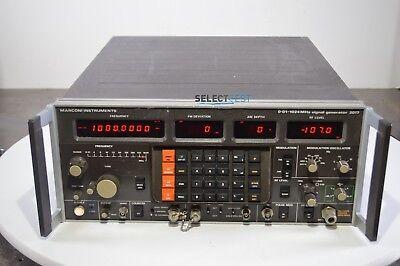 Marconi 2017 Low Noise Am Fm Signal Generator 10 Khz-1024mhz Warranty