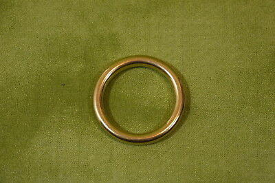 """1""""  O Ring Solid Brass  Medieval Steampunk SCA Belts LARP Saddle Pack of 10"""