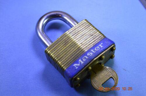 Master Lock 2D Laminated Brass Padlock Used with 1 key