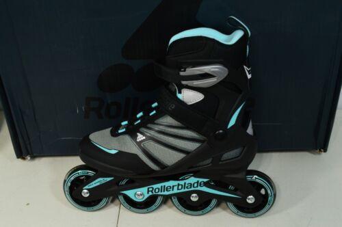 Rollerblade ZetraBlade Womens Skates Sz 7 Black/Light Blue Inline