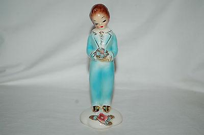 "Vintage HTF Josef Originals California 'Teddy' in Blue 5.5"" Figurine!!!!"
