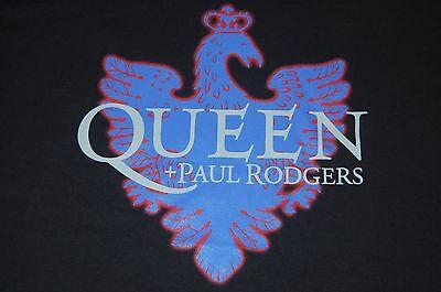 QUEEN Shirt Black Size L Adult + PAUL RODGERS 2005 Tour Shirt NEW