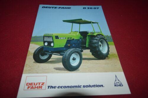 Deutz Fahr D 36 07 Tractor Brochure FCCA