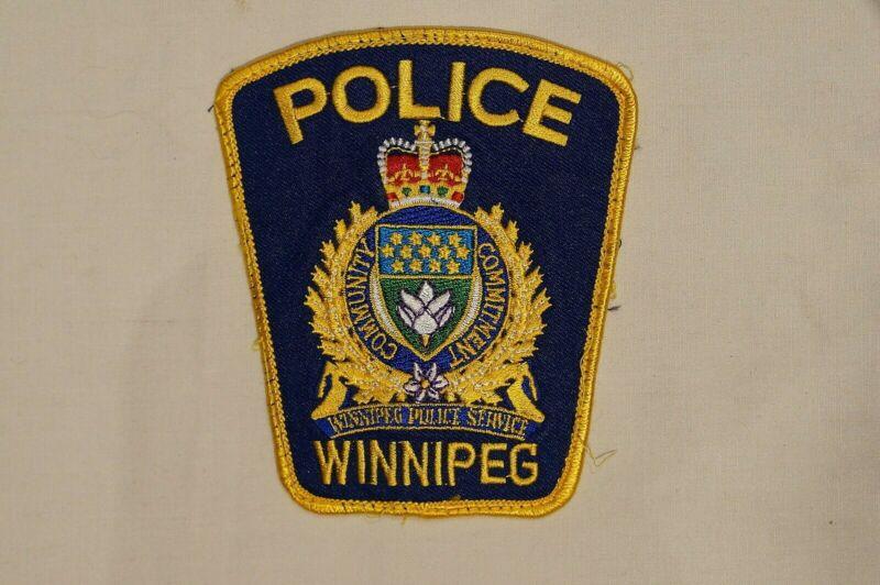 Canadian Manitoba Winnipeg Police Service Blue Patch 2