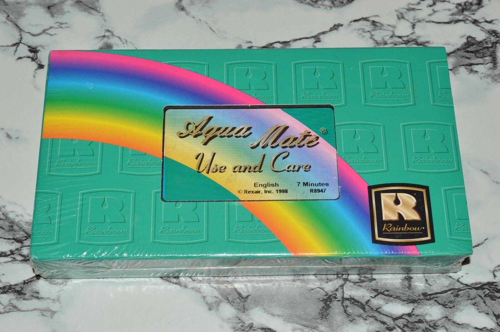 NEW - Rainbow AquaMate Aqua Mate - Use And Care VHS TAPE -- Rexair Inc. - $12.68