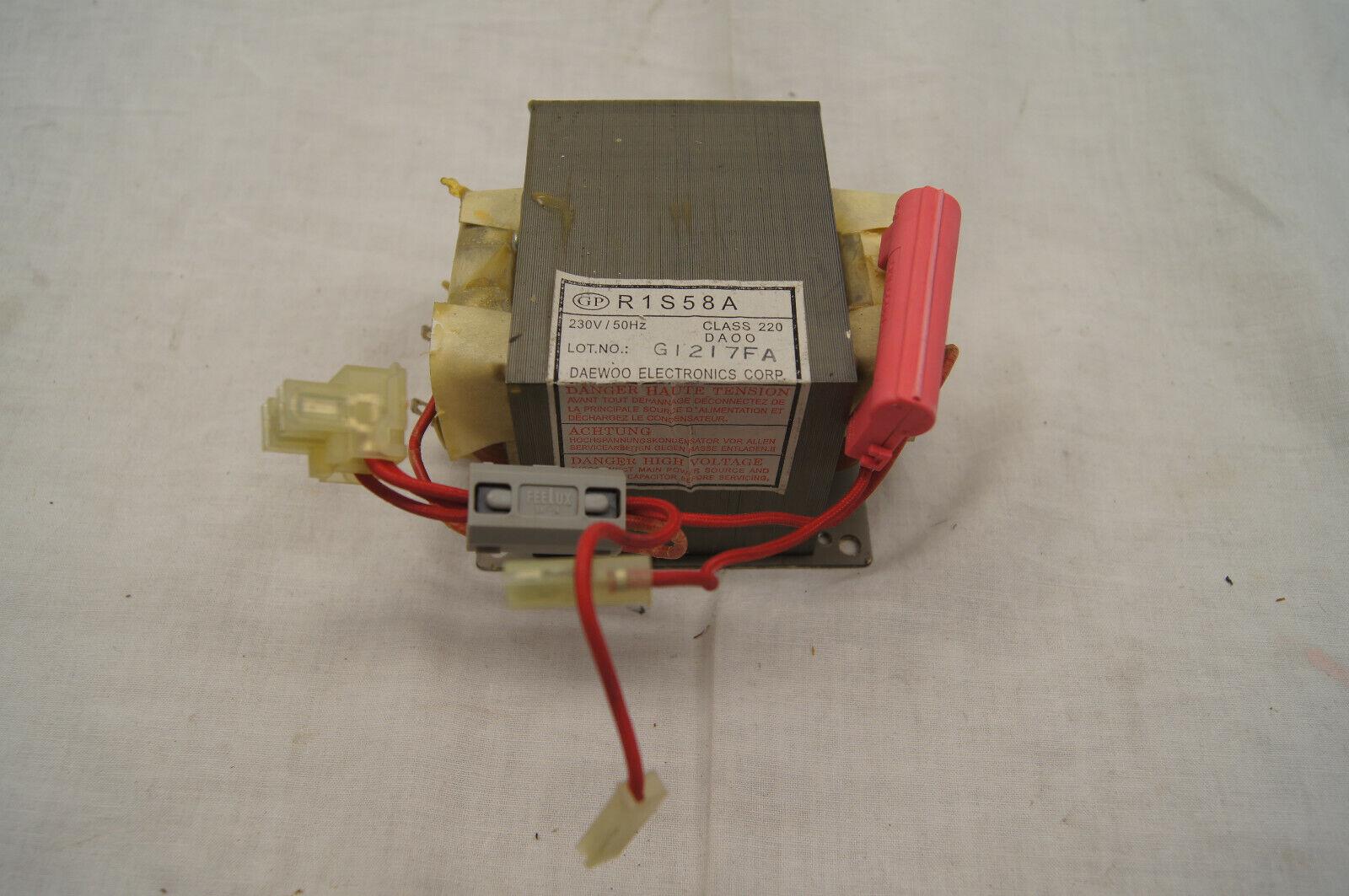Transformator Daewoo R1S58A Hochspannungstrafo für Mikrowelle