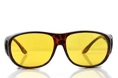 Braun Kontrast-Brille Nachtfahrbrille Gelbe Gläser Night Driving Glasses