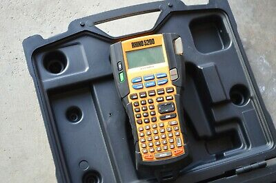 Dymo Rhino 5200 Labeler Label Maker W Case Tested Working