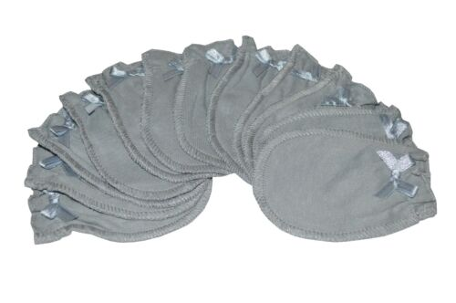 6 Pairs Cotton SOFT Baby/infant No Scratch Mittens Gloves - Pure Gray