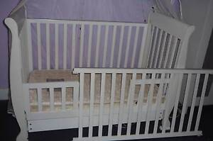 3 in 1 Sleigh Cot Toddler Bed with Drawer&Mattress&Accessories Burwood Burwood Area Preview