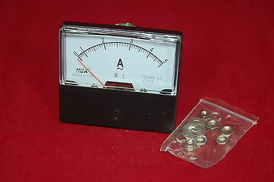 1pc Ac 0-5a Analog Ammeter Panel Amp Current Meter 6070mm Directly Connect