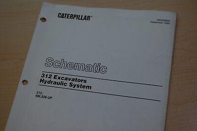 Cat Caterpillar 312 Crawler Excavator Hydraulic Diagram Schematic Manual Hose