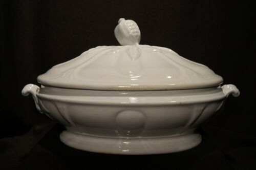 JF Ironstone China Vegetable Tureen Jacob Furnival England Ear of Corn Finial