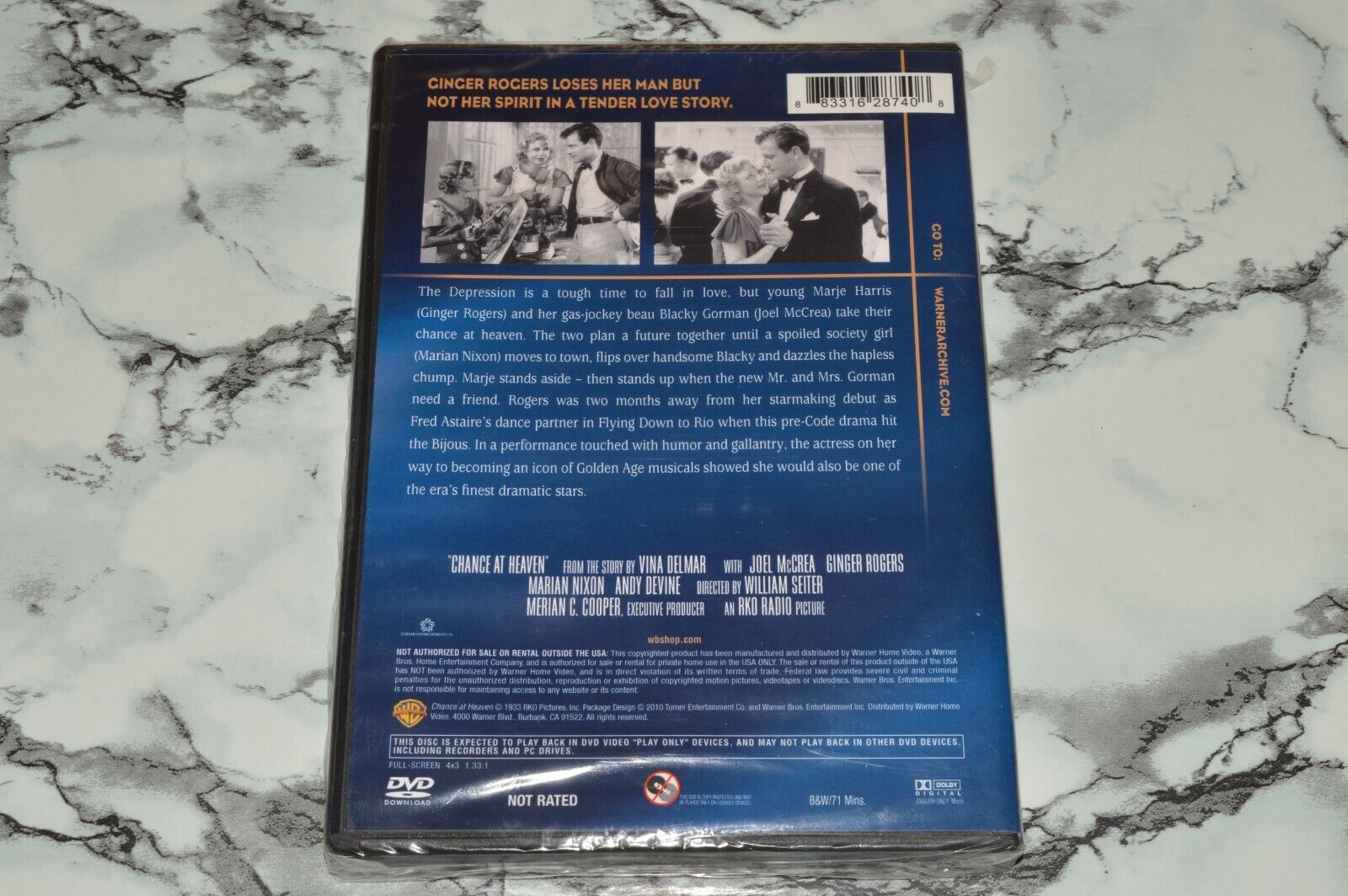 NEW - Chance At Heaven - Archive Collection DVD -- Joel McCrea Ginger Rogers - $12.68