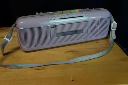 Amazing Sharp QT-50 Vintage Retro Cassette Boom Box Great Condition!! Lavender
