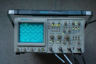 Tektronix 2445a Four Channel 150 Mhz Oscilloscope Works Great Fully Tested
