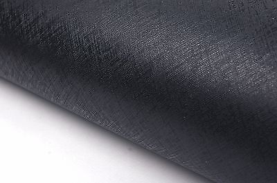 Solid Black Leather 2m Fake Leather Pattern Interior Film Bubble-Free Wallpaper