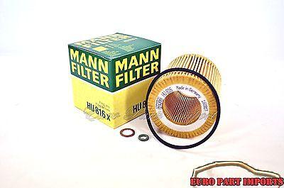 BMW E60-66 E81-89 E90-93/ F10-13 F20-23 F30-34 Mann Oil Filter HU816X OEM Qty