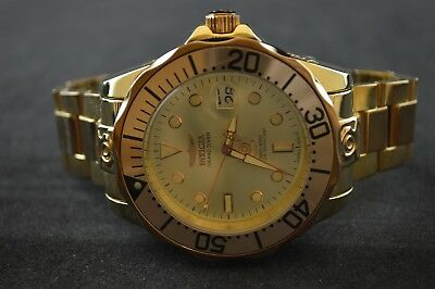 Invicta Pro Diver Grand Rose Gold Tone Stainless Steel Men's Watch 16039