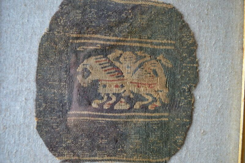 VERY RARE COPTIC FRAGMENT HEROIC KNIGHT OR HORSEMAN circa400-600 AD