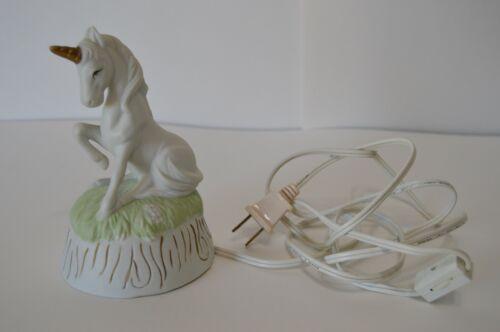Vintage Flambro Unicorn Lamp Nightlight Lighting Ceramic Fantasy Horse Child