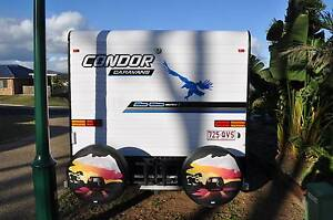21' Condor caravan with a large leather club lounge Harlin Somerset Area Preview