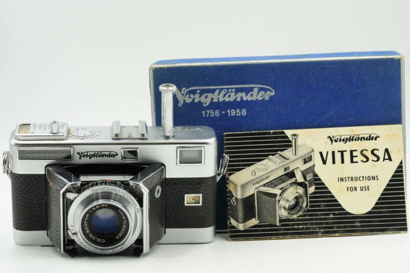 Voigtlander Vitessa Rangefinder Film Camera w/50mm Lens #983