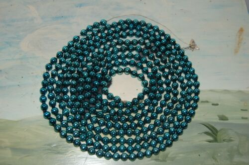 Vintage - Blue - Mercury Glass Bead Christmas Garland 104""