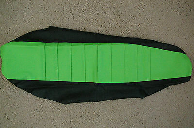 FLU Designs Pleated gripper seat cover Team Kawasaki KX125 KX250 99 2000 01 02