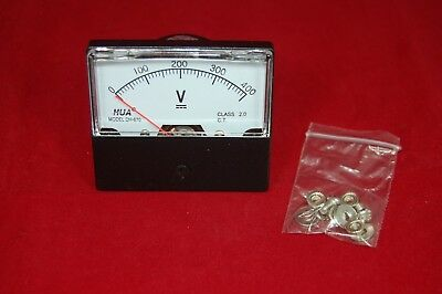 1pc Dc 0-400v Analog Voltmeter Panel Voltage Meter 670 6070mm Directly Connect
