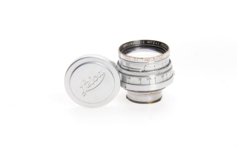 Leica 5cm (50mm) F2 Summitar Collapsible (F16) M39 Lens Germany #465