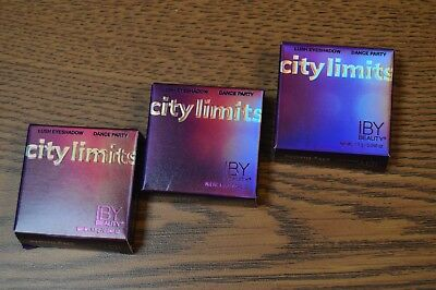 3X IBY Beauty City Limits Dance Party Lush Eyeshadow 1.5g Ipsy Set of 3