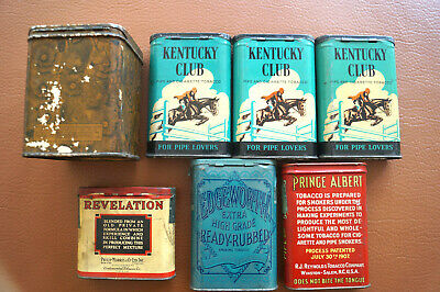 Vintage Tobacco Canisters Advertising Tin Decor Display Empty
