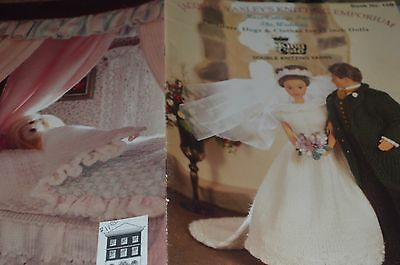 "King Cole Knitting Book 15B Furniture Dogs Clothes 12"" Dolls"