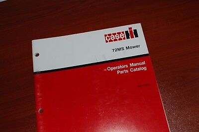 Case 72ms Mower Parts Manual Book Catalog List Spare Rotary Disc Hay Grass 1990