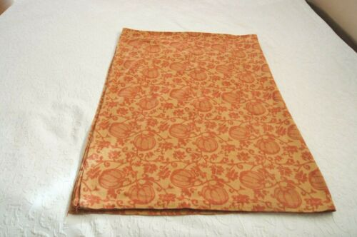 "Gold and Rust Pumpkin Print Rectangular Fabric Tablecloth--56"" x 78"""