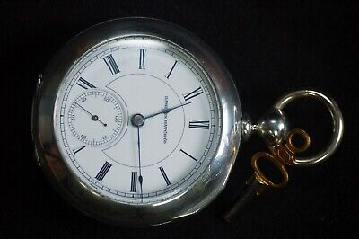 "1883 Hampden 18s 15j Grade Springfield Model 2 Key Wind/Set ""Wheat"" Pocket Watch"