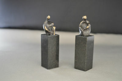 Ein erfolgreiches Gespräch -  Corry Ammerlaan-van Niekerk, Bronze 7 cm