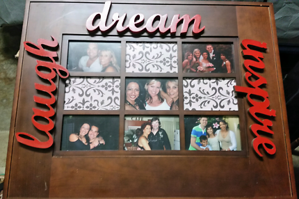 Wooden picture frame (laugh, dream, inspire)