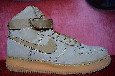 "Worn Once Nike Mens Air Force 1 High '07 LV8 WB ""Wheat Flax"" OG 882096-200"