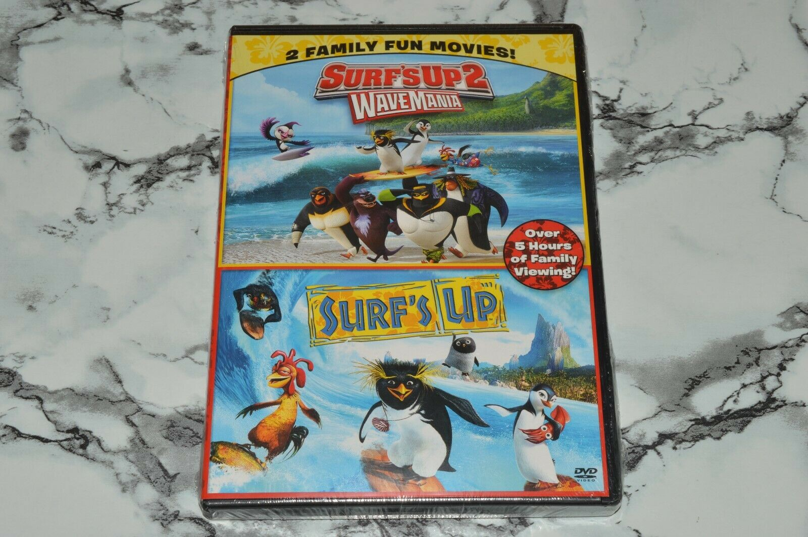 NEW - Surf s Up 1 2 WaveMania -- Double Feature DVD, 2017  - $12.68