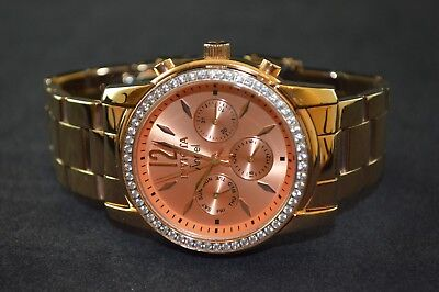 Invicta Angel Rose Gold Diamond Accented Stainless Steel Ladies Watch 11774