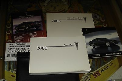 2006 PONTIAC GRAND PRIX OWNERS MANUAL PACKET & CASE